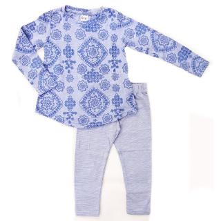 QK Blue Abstract Art Pyjamas / Casual Set (1Y-6Y)