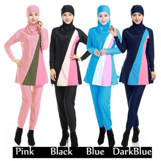 Ready stock Muslim Swimwear Swimsuit Hijab Swimwear Full Cover Swimming Suit