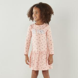 Babyshop Juniors Printed Dress with Round Neck and Long Sleeves for Toddler Girls (1-6 years)
