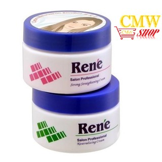 Rene Hair Strong Straightening Cream + Neutralizer (2x120ML)