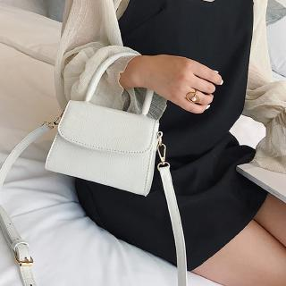 White Small Square Bag Shoulder Bag Women Retro Pure Color Handbags Designer Brand Handbag Messenger Crossbody Bags Sac