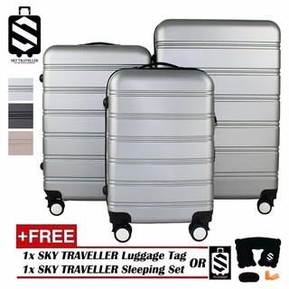 READY STOCK 💰 SKY TRAVELLER SKY304 3-In-1 Premium Hard Case With 8 Wheels Spinner(20