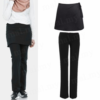 Seluar Skirt Sukan Hiking/Gym/Fitness/Zumba Muslimah Sport Palazzo Pants Casual Dance Skirts Pants Slack