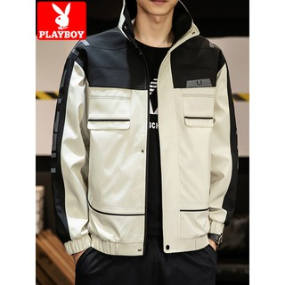 New Playboy Men Tooling Coat Spring And Autumn 2020 New Tide Brand Coat Jacket