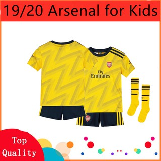 (FREE SOCKS) 2019/2020 Newest Arsenal Home Away Football Jersey Boys For Kids Children