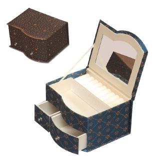 Hot Sale Calico Accept Makeup Jewelry Box Jewellery Jewelry Box Carry On Accept Boxed Labels Oem