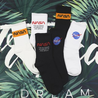 New Hipster Street Unisex Nasa Funny Letters Cotton Socks Popular Skateboard Men's Sock