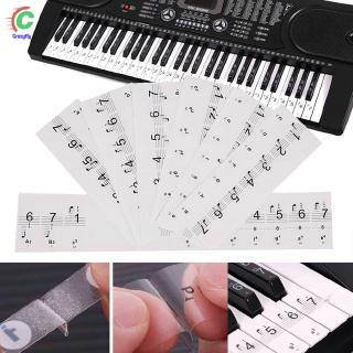 CFYTransparent Piano Stickers Music Keyboard Key Note Labels 54 61 88 Keyboards AU