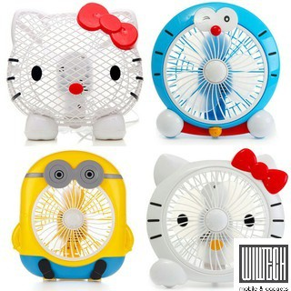 Cartoon Electric Desktop Table Fan – Hello Kitty/minon/doreman/Totoro