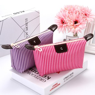 【READY STOCK】Fresh Print Cosmetics Box Female Cosmetics Storage Bag Women Storage Handbag