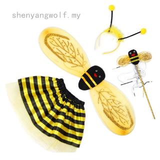 shenyangwolf  Hot New Girls Ladybird or Bumblebee Wings Set Fancy Dress Bug Insect Kids Childs Costume