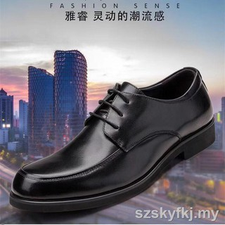 2019 new men round head business leather shoes with the leisure man work dress manufacturers direct marketing