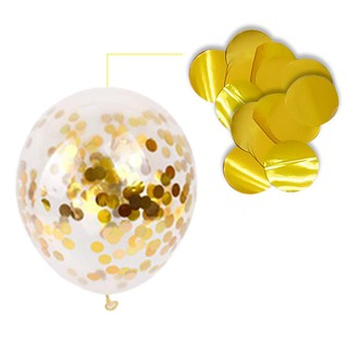 MY XINYI 10pcs New Gold silver Confetti Wedding Ballon Happrty Supplies