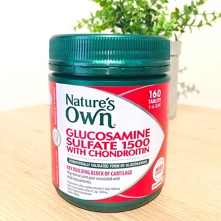 Australia 🇦🇺 Nature's Own Glucosamine Sulfate 1500 With Chondroitin 160 Tablets Exp 05/2021
