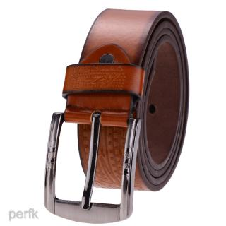 Fashion Men's Luxury Waistband Leather Belts Trousers Pin Buckle Waist Strap Width 3.8cm