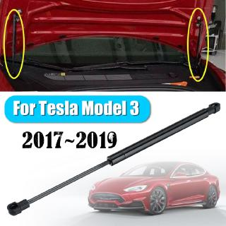 Allinone For Tesla Model 3 1Pcs Black Spring Steel Hood Bonnet Front Strut Lift Support