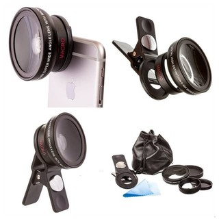 HandPhone Camera Lens 2 in 1 HD Lens Kit 0.45X Wide Angle & 12.5X Macro Lens (randomly color)