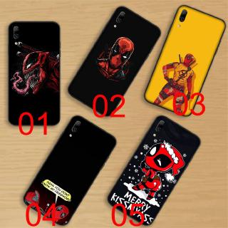 Black Soft Case Huawei Nova 2i 3i 5i 2 3 4 5 Pro Lite Honor 6A Deadpool