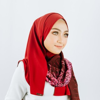 Ruby Premier Art Shawl in Crepe