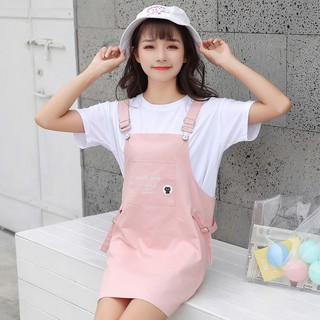 Summer the new 150 cm small short XS cowboy braces skirt dress T-shirt match suit