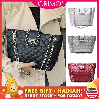 READY STOCK🔥GRIMO Qino Quilted Handbag Tote Women's Sling Bag Shoulder Beg Perempuan Tangan Wanita Bags Travel fb11826