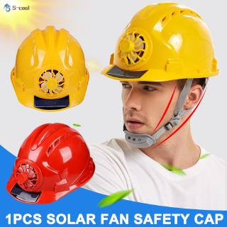 Solar Fan Working Helmet Adjustable Ventilation Sunscreen Waterproof Architecture Worker Cap