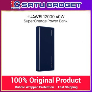 HUAWEI 12000mah 40W SuperCharge Power Bank (CP12S) 5A Powerbank Two-way Quick Charge for Huawei