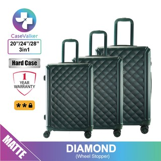 Case Valker Ketupat 3 in 1 ABS Luggage Bag Set with Stopper Wheel [Warehouse Promo]