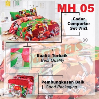 CADAR LEMBUT 7 in 1 / With Conforter + Bed Sheet MH [Super Queen) Siri 5