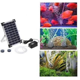 10V 5W Solar Powered Oxygenator Fish Aquarium Pond Water Oxygen Pump Air Pump BSV-AP006