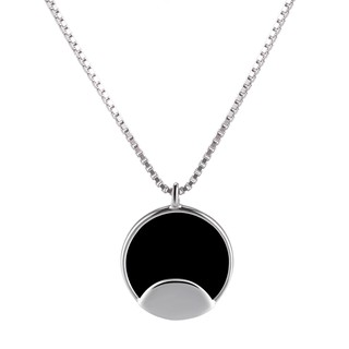 Ready Stock veecans Necklace,Simple Hollow Circle Round for Women