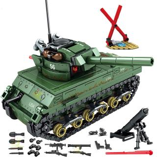 Military Toys 437pcs Military USA M4 Tank Building Blocks Toys Gifts for Boys Army WW2 Vehicle Soldiers Weapons Bricks