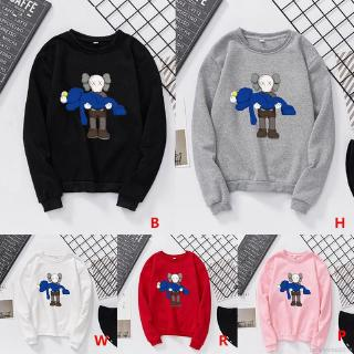 KAWS Sesame Street Joint Name Autumn Winter Couples Round Collar Sweater Hoodies