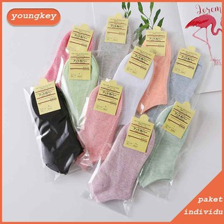 Woman's cotton socks individual package solid color breathable