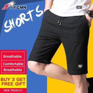 YYcmn  Men Short pants Hot - selling comfortable breathable ice cool cotton and linen shorts