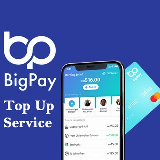 BigPay Top Up Service 3% Charges