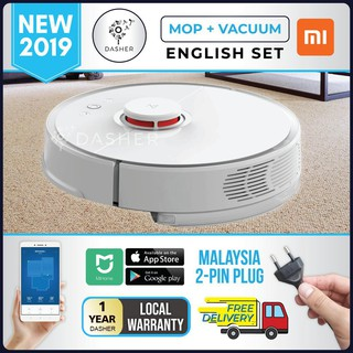 RoboRock Robot Xiaomi Vacuum Cleaner S50 WHITE S55 BLACK with Mop - Mijia HOME