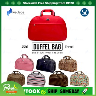 Realeos 33L Hand Carry Large Capacity Duffel Luggage Travel Bag R674