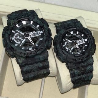 Casio G shock GA110 Flora Green / Purple Couple Set Free Gshock Couple Box