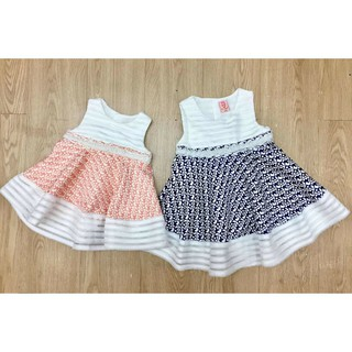 Baby Girl Dress (Peach / Blue)