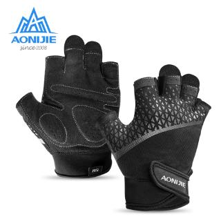 AONIJIE Unisex Half Finger Sports Gloves For Running Jogging Hiking Cycling Bicycle Gym Fitness Weightlifting Nonslip