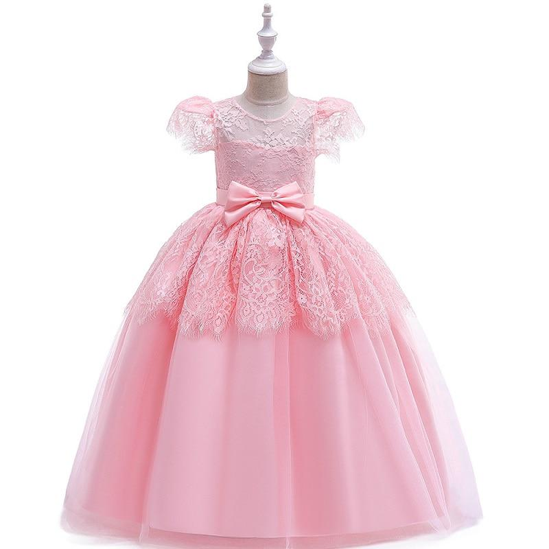 Wedding Dress Participate first feast formal girl Party Lace Princess Birthday Dress First Communion Gown for Girls