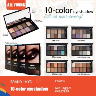 MYG eye makeup palette with mirror eyeshadow (net:14g)