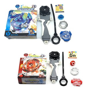 FLS Toy Beyblade Metal Fusion Fighting Gyro 4D Launcher With Spinning Top set