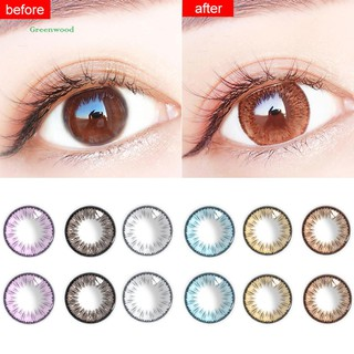 GREEN   2Pcs 6 Colors 0 Degree Makeup Cosmetic Contact Lenses for Party Cosplay Festival