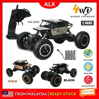 ALX Malaysia Warranty RC Remote Control Car 4 Wheel Drive Sport Extreme Climbing Car Vehicle Toys Rechargeable 2199