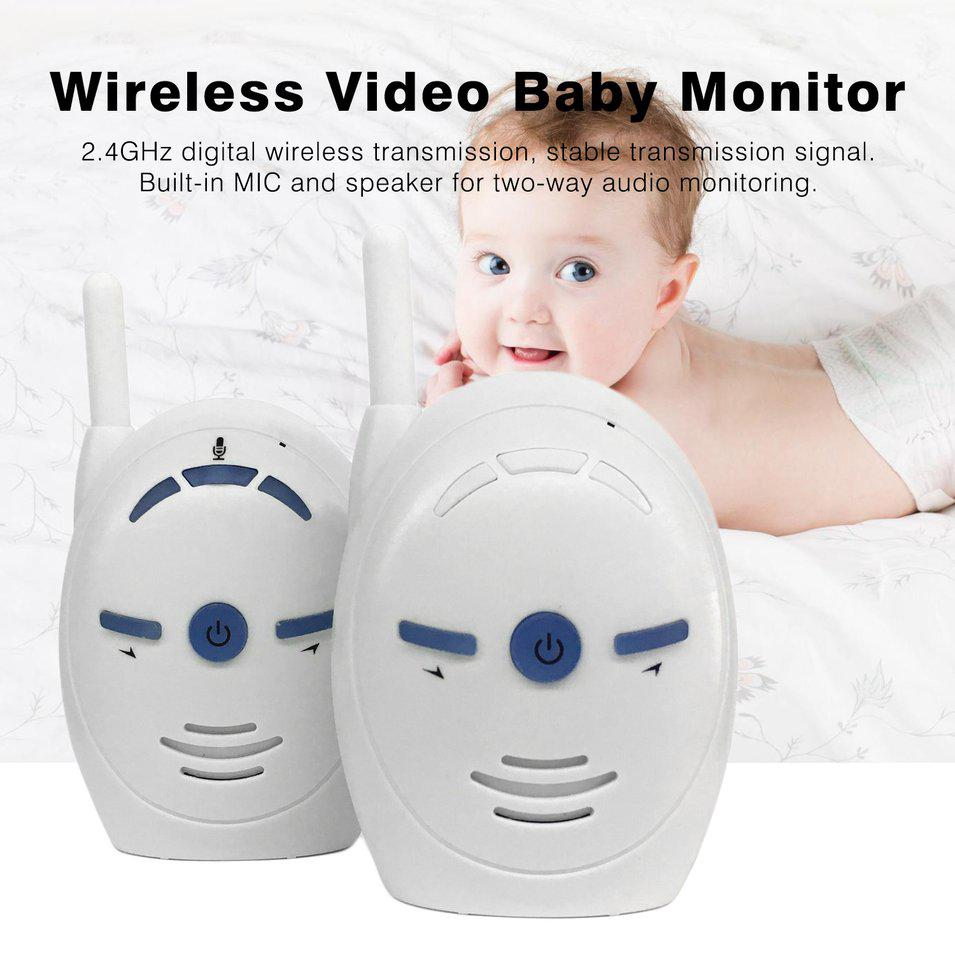 V20 Wireless Digital Audio Baby Monitor Two Way Talk Clear Cry Voice Alarm