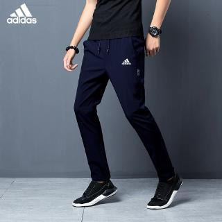 Adidas men's casual pants, sweatpants, loose body, Korean version of trendy pants, men.