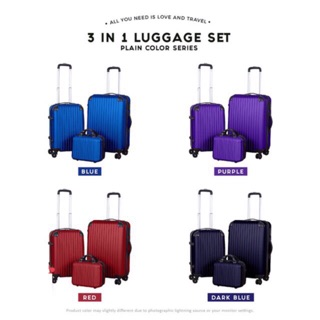 🔥🔥🔥ABS quality luggage 3in1 or 2in1 24inch+20inch+12inch