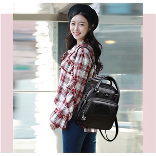 Women's bag retro leather backpack shoulder portable multi-function backpack